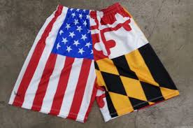 American Flag Workout Shorts Mens Lacrosse Shorts Lax Shorts Lightning Wear