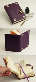 leather memory book secret diary leather memory book purple journal gift for