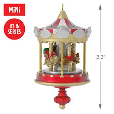 christmas carousel christmas carousel mini ornament keepsake ornaments hallmark