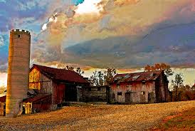 Photos Of Old Barns Old Barns And Silo Photograph By Audra J Shields