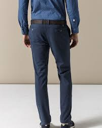 Navy Blue An by Navy Blue Flat Front Trousers Official Online Shop