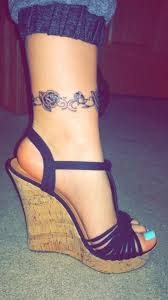 the 25 best rose ankle tattoos ideas on pinterest dark roses