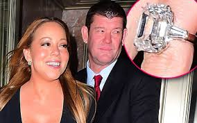 carey wedding ring see carey s 35 carat engagement ring up