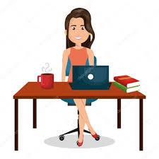 travaux de bureau dessin femme d affaires bureau travail bureau graphique image