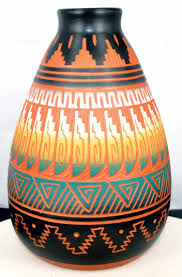 Navajo Wedding Vase Native American Indian Pottery