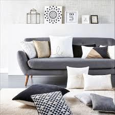 canap tissus gris deco salon canape gris avec canap 2 places scandinave milo tissu