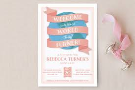 welcome to the world baby shower welcome to the world baby shower invitations by la minted