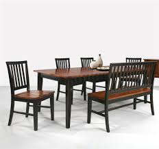 dining room bench with back dining table with slat back bench slat back side chairs by