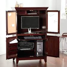 Wood Computer Armoire Solid Wood Computer Armoire Hutch Desk Storage Cabinet