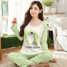elderly nightgowns pajamas for women sleeve cotton pajamas elderly