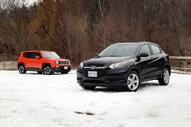 jeep crossover 2015 comparison review 2016 honda hr v vs 2015 jeep renegade