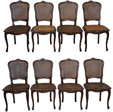french louis xv cane dining chairs set of 8 chairish