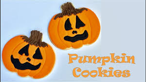 Halloween Pumpkin Sugar Cookies - how to decorate halloween pumpkin cookies youtube