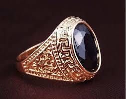 gem stones rings images Mens rings black precious stones real 18k gold ring for men retro jpg