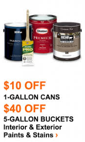 home depot 5 gallon interior paint home depot memorial day sale 10 gallon paint cans 40 5