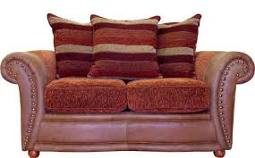 Leather With Fabric Sofas Amazing Fabric Leather Sofa Leather And Fabric Sofa Savings Fabric