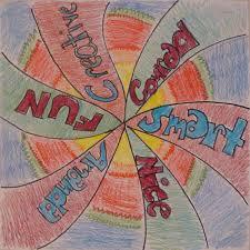 art paper scissors glue radial symmetry name designs