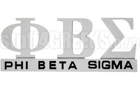 phi beta sigma chrome greek letters car decal ns