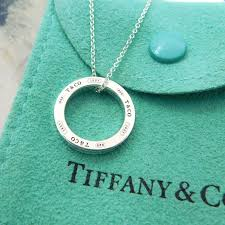 circle necklace silver sterling images Tiffany sterling silver 1837 circle necklace the jewelry box jpg