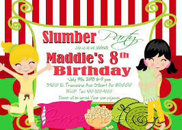 slumber party invitation sleepover invite birthday party girls