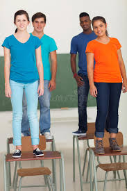 standing desks for students students standing desks stock image image of learners 31577829