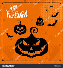 happy halloween party night card halloween pumpkin dark design 1