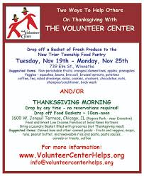 thanks for a difference at thanksgiving volunteer center