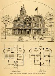 Mansion Blue Prints by 28 Victorian House Blueprints 1878 Print Victorian Villa