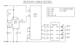 network rj45 cable tester circuit