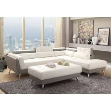 Tufted Sectional With Chaise Modern Tufted Sectionals Allmodern