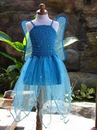 blue fairy dress with wings hanging in the closet my fairies