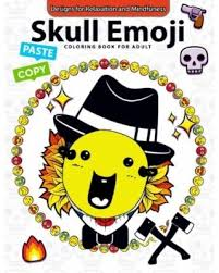 save pennies deals skull emoji coloring book adults