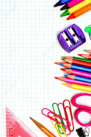 border writing paper colorful school supplies corner border over graphing paper stock colorful school supplies corner border over graphing paper stock photo 30090919