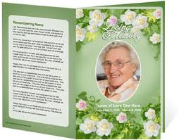 Programs For Memorial Services Samples 9 Best Images Of Memorial Brochure Funeral Template Free Free