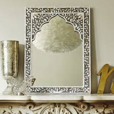 decor home decoration with wall mirror in mother of pearl mirror