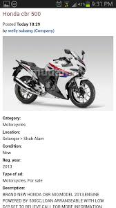 honda cbr bike cost motomalaya june 2013