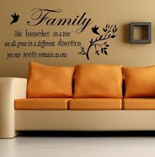 wall ideas family quotes wall for family room branches