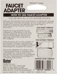 oatey 33444 faucet adapter to connect a garden hose to a kitchen