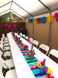 Serape Table Runner Kara U0027s Party Ideas Cactus U0026 Flamingo First Birthday Fiesta