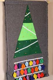 weihnachtsbaum zum schmücken adventskalender nähen craft