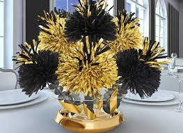 black and gold centerpieces for tables table designs