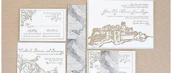 Letterpress Invitations Edge Painted Letterpress Invitations Gourmet Invitations