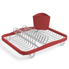 Dishes Rack Drainer Gold Wire Dish Rack Metallic Dish Drainer Present Time