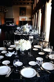 Wedding Table Clothes Black White Wedding Tablecloths And Damask Drapes Decor Anikkhan