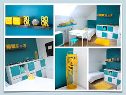 le de bureau jaune chambre deco chambre garcon chambre enfant decoration chambre bleu