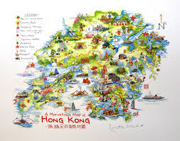 Map Of Hong Kong Picture This Lr062 Lorette Roberts A Marvellous Map Of Hong