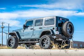 blue jeep wrangler insane off road mods on tough jeep wrangler unlimited u2014 carid com