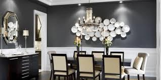 wandgestaltung speisezimmer schwarze wände und kreative wandgestaltung mit weißen schalen für