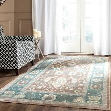 Chocolate Brown And Blue Area Rug by Contemporary Classic Area Rug Val122b Safavieh Com