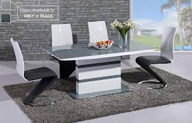 Black Glass Extending Dining Table 6 Chairs Modern Black High Gloss Dining Table Best Gallery Of Tables